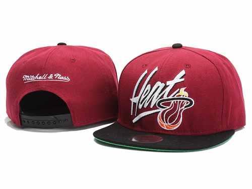 new concept 5a2e4 cec64 Mitchell and Ness NBA Miami Heats Stitched Snapback Hats 128