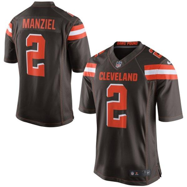 3c9beb82adc Nike Browns  2 Johnny Manziel Brown Team Color Youth Stitched NF