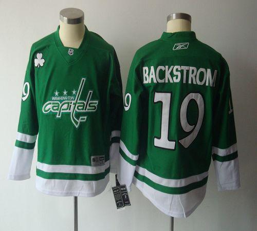 a643c0980 Capitals  19 Nicklas Backstrom Green St. Patty s Day Stitched Yo